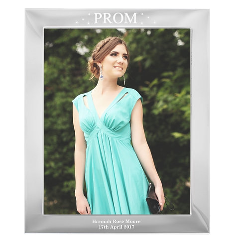 Our Personalised Prom Night Silver 10x8 Photo Frame is an ideal way to commemorate their special leaver's prom!