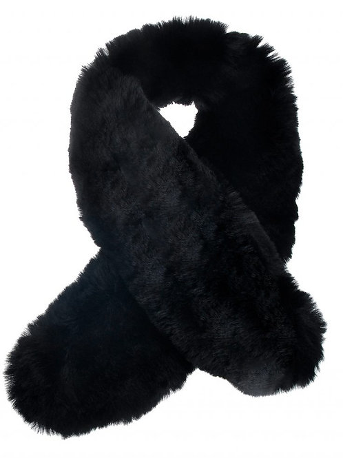 Black Ultra Soft Faux Fur Collar