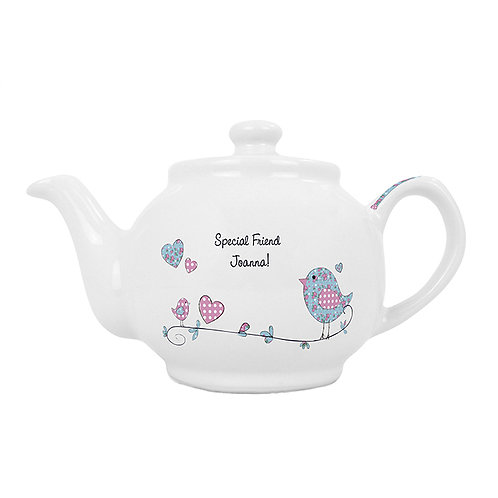 Personalised Floral Bird Teapot This gorgeous teapot makes a fantastic gift for any tea drinker