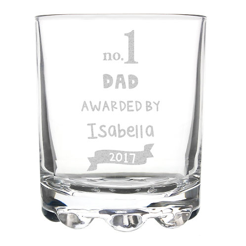Celebrate Father's Day in style with this Personalised no.1 Awarded By Tumbler Glass