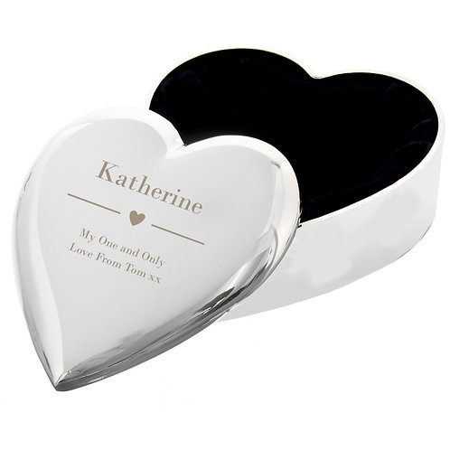 Personalised Decorative Heart Trinket Box  This beautiful trinket box is perfect as a surprise for her on any occasion.