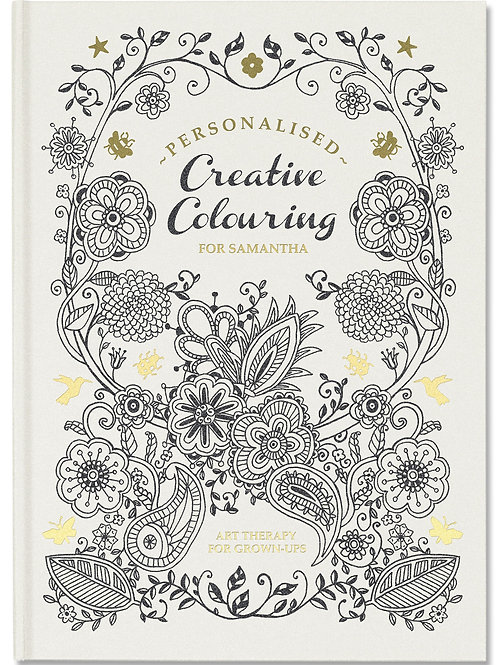 Personalised Creative Colouring Book  Relax and unwind with this anti-stress art therapy.