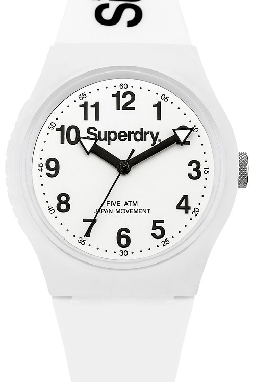 Superdry Urban White Silicone Strap Watch SYG164WW