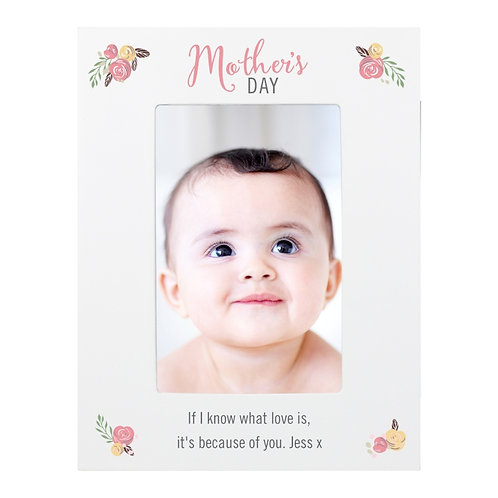 Personalised Floral Bouquet Mother's Day 6x4 Photo Frame  A lovely gift idea for Mother's Day!