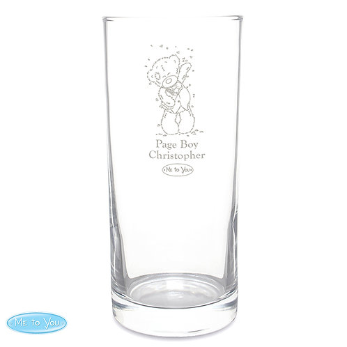 Personalised Me To You Wedding Glasses