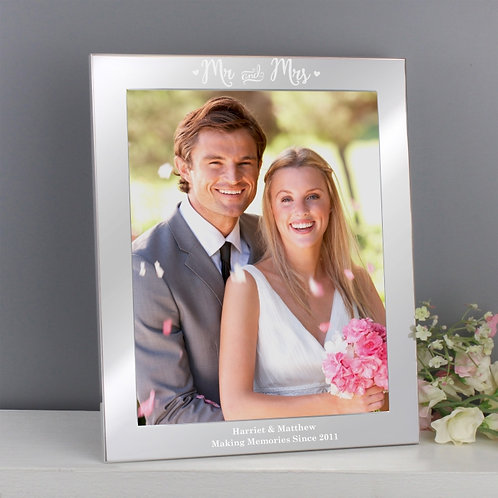A beautiful, subtle frame to match any such occasion! It would look lovely on a mantelpiece or on a bed side table