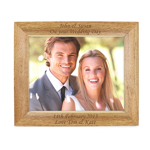 Personalised Landscape Wooden Photo Frame 10x8