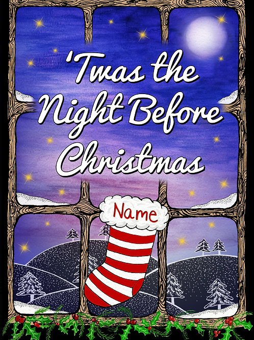 Personalised 'Twas the Night Before Christmas