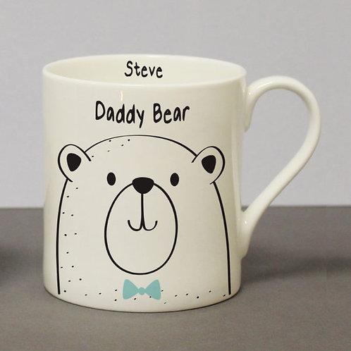 Personalised Daddy Bear Large Balmoral Mug