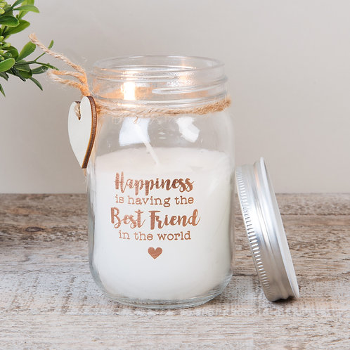 Best Friend Mason Jar Candle