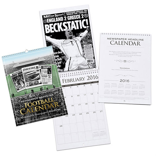 Personalised A4 Football Club Calendar