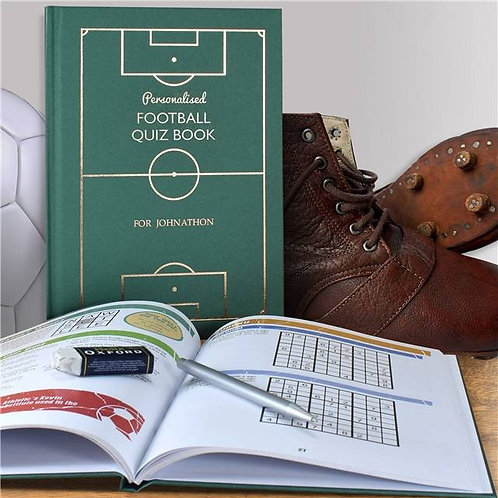 Personalised Football Quiz Book now they can enjoy football when they're not, watching it, playing it, or talking about it