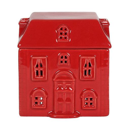 Red Ceramic House Oil Burner