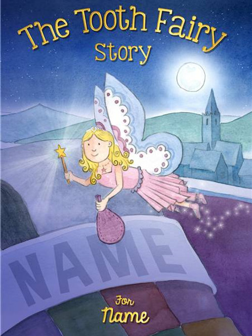 Personalised Tooth Fairy Story Book-Personalise This Story With Any Name & Short Message
