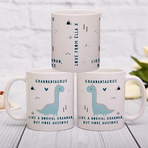 Personalised More Awesome Blue Inside Mug