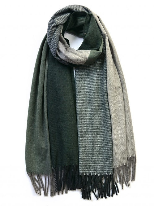 Four Colour Block Pattern Winter Scarf