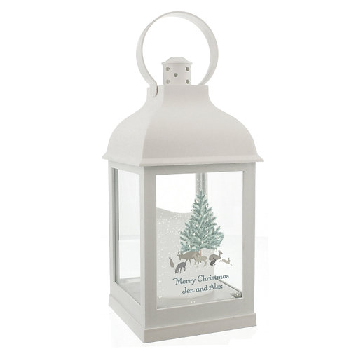 This stunning A Winter's Night White Light Up Lantern is an ideal way of adding festive ambience to any home this Christmas.