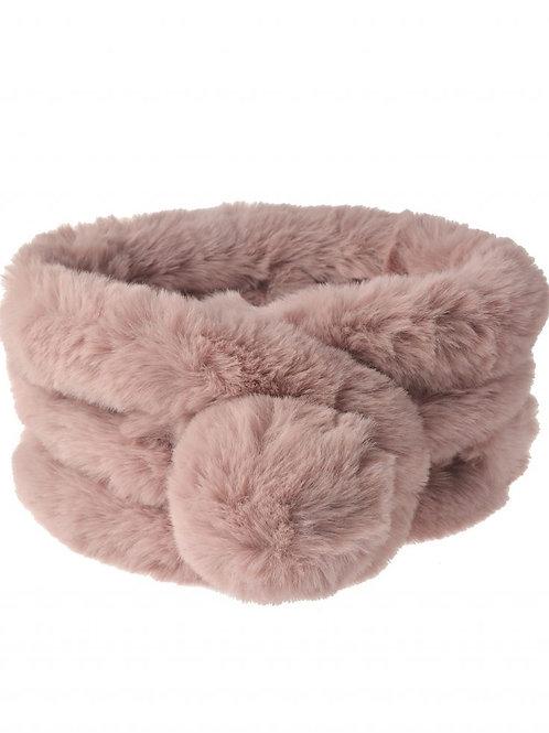 Soft Pink Ultra Soft Fur Neck Scarf