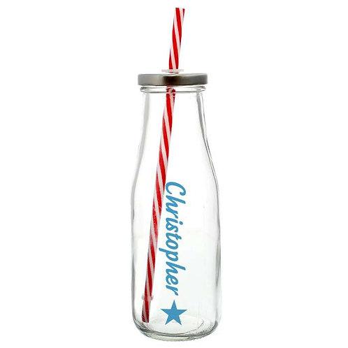 Personalised Star Motif Milk Bottle