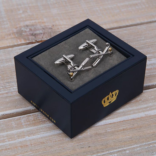Harvey Makin Cufflinks - Golf Clubs