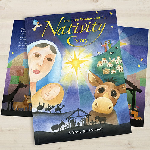 Personalised Little Donkey and the Nativity Story