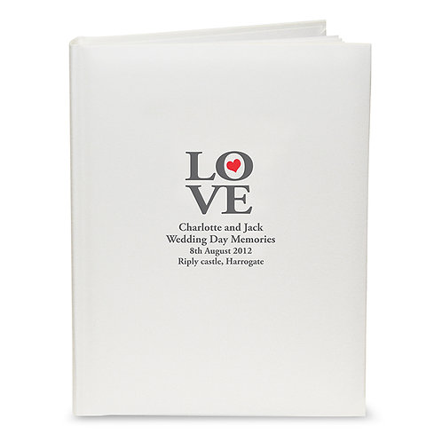 This LOVE Traditional Album can be personalised with any message of your choice over 4 lines up to 25 characters per line