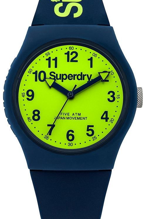 Superdry Urban Blue Silicone Strap Watch SYG164UN
