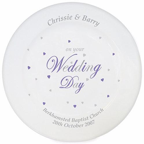 Wedding Day Plate