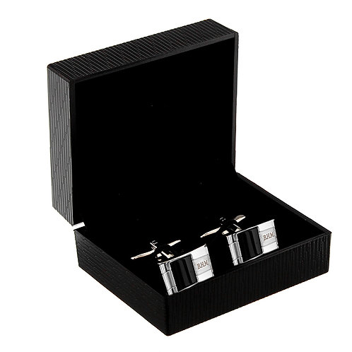 These elegant and stylish cufflinks feature a black onyx detail and make a fantastic gift for that special man