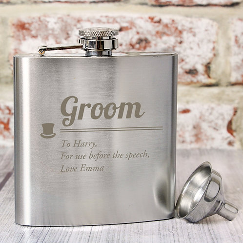 The flask can be personalised with a message over 3 lines of text, with up to 25 characters per line.