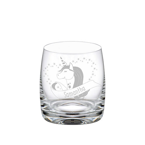 This Unicorn Tumbler Glass is a great way for anyone to enjoy their favourite drink. It can be personalised with any name