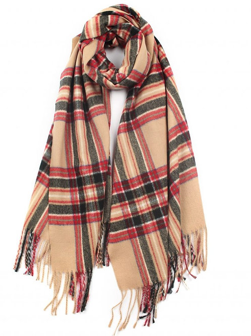 Scottish Check Pattern Winter Scarf