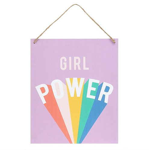 Girl Power Hanging Sign