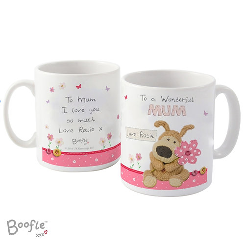 Personalised Boofle Flowers Mug  Our Personalised Boofle Mother's Day Mug is sure to make your Mum a very happy lady!