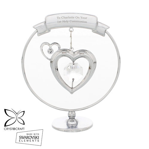 Personalised Crystocraft Heart Ornament-Would Make The Perfect Valentine Gift For Your Loved One