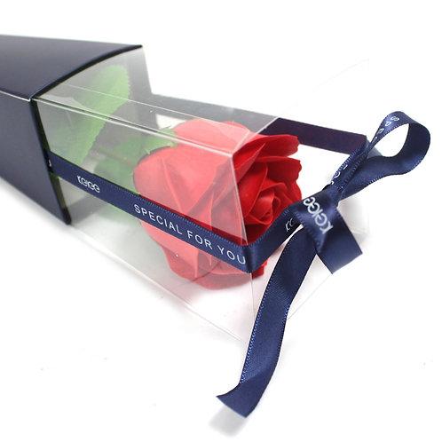 Single Rose - Red Rose Soap Flower
