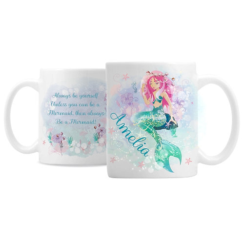 Personalised Mermaid Mug  This Mermaid Mug is an ideal gift for any true fan of mythical creatures!