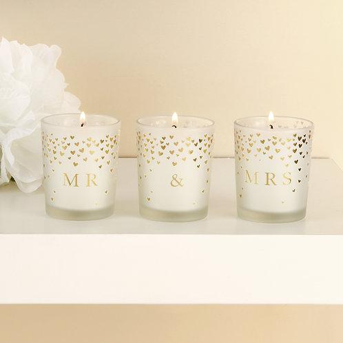 Mr & Mrs Candle Set