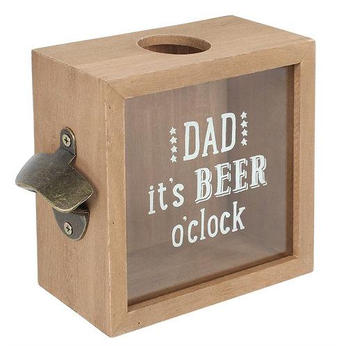 Dad It's Bear O'clock Bottle Top Holder