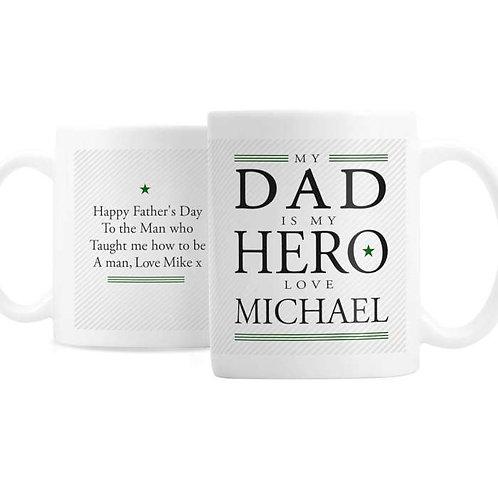 Personalised My Dad is My Hero Mug