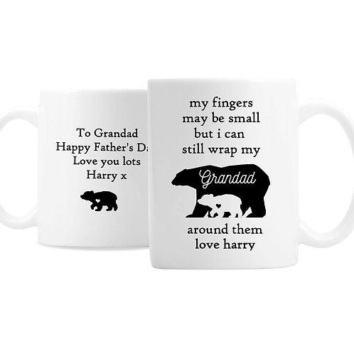 Personalised My Fingers May Be Small Bears Mug