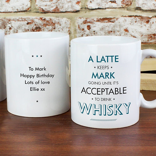 Such a fun & quirky mug!  You can personalise both the front and reverse of this mug.