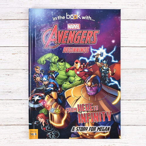 Personalised Avengers Beginnings from Here to Infinity Book