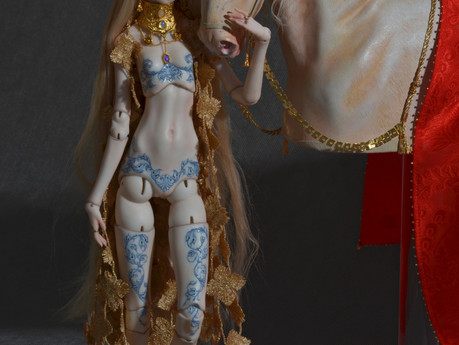 "Lady Godiva the first doll from collection ""Reign of beauty"""