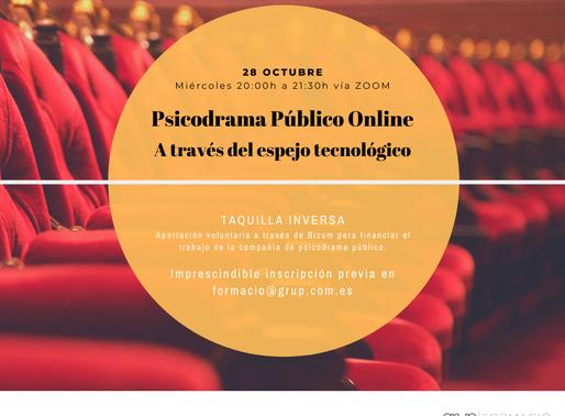Psicodrama Público Online. Creatividad grupal a través del espejo tecnológico