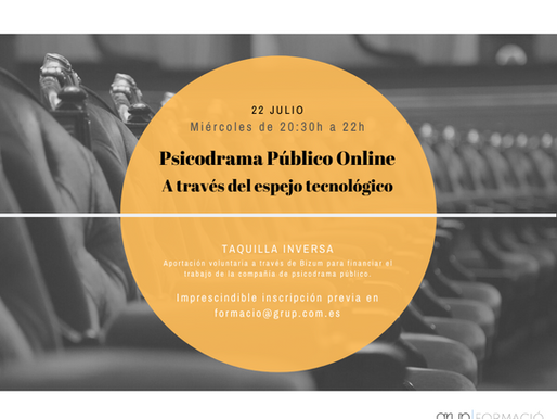 Psicodrama Público Online. A través del espejo tecnológico