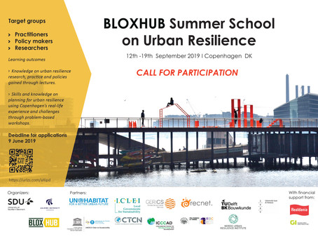 BLOXHUB Summer School on Urban Resilience