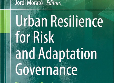 New Book Urban Resilience for Risk and Adaptation Governance