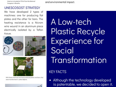 A Low-tech Plastic Recycle Experience for Social Transformation