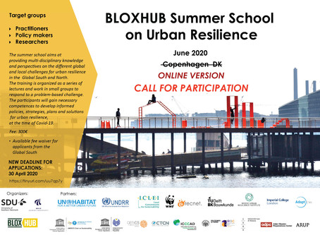Abierta convocatoria: BLOXHUB Summer School on Urban Resilience